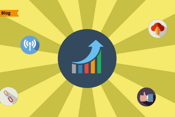 Illustrazione in flat design del grafico di crescita del Wi-Fi Pubblico