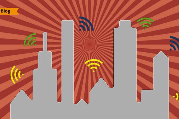 Una città coperta dal free wi-fi