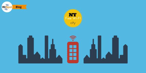 Illustrazione delle cabine telefoniche di New York trasformate in Internet hotspot