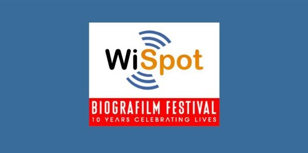 I loghi di WiSpot e di Biografilm Festival 2014