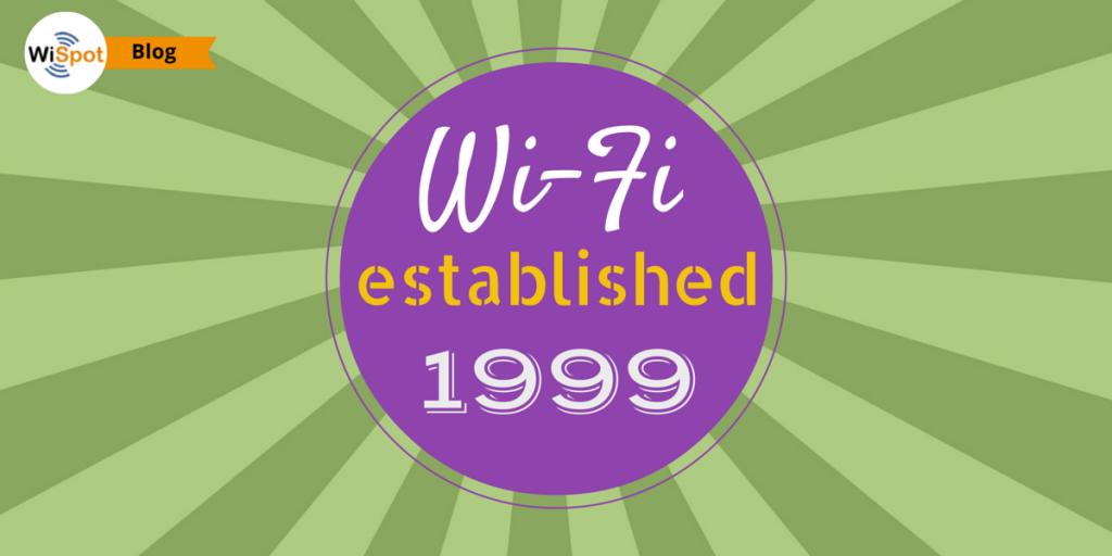 Insegna che indica l'anno di invenzione del Wi-Fi.