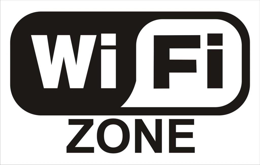 Il logo del wi-fi in bianco e nero.