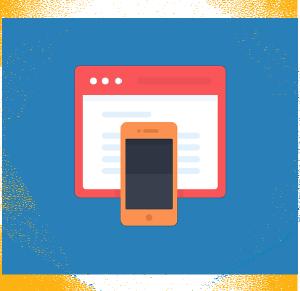 Un esagono flat contenente un browser e uno smartphone sovrapposti.