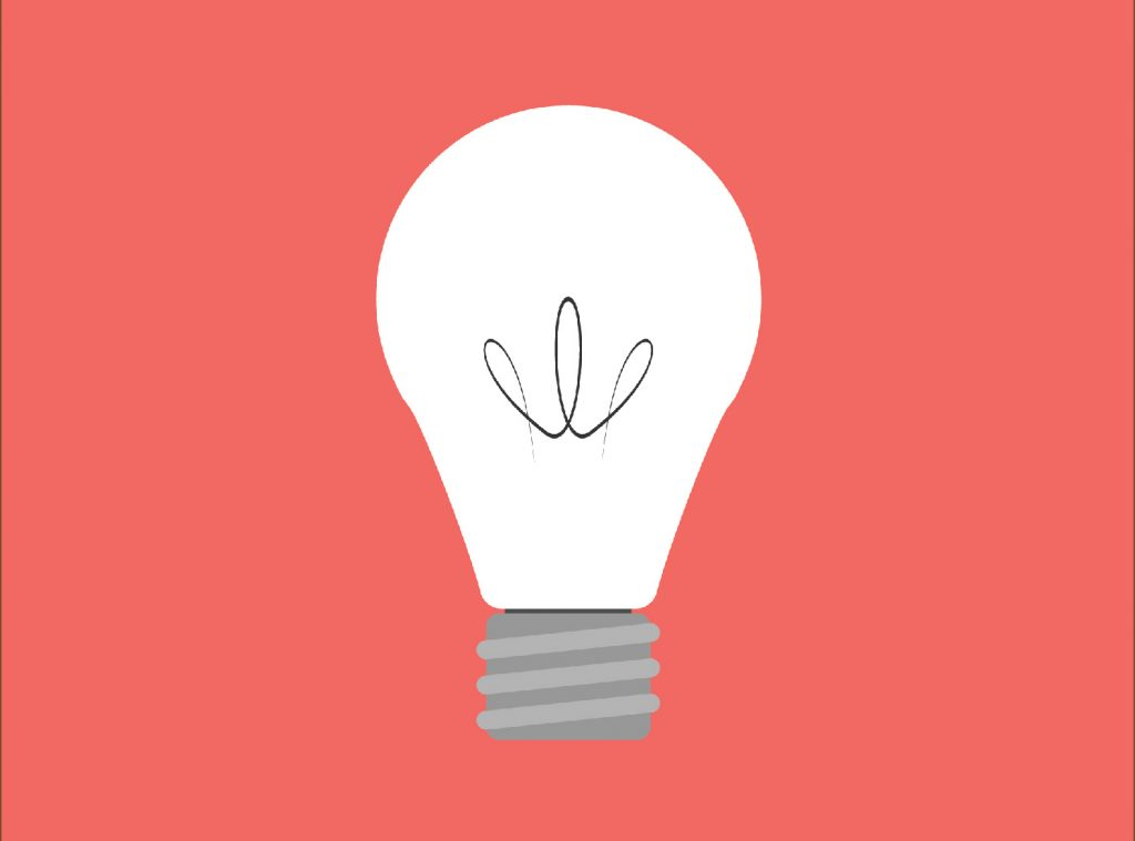 Una lampadina spenta.