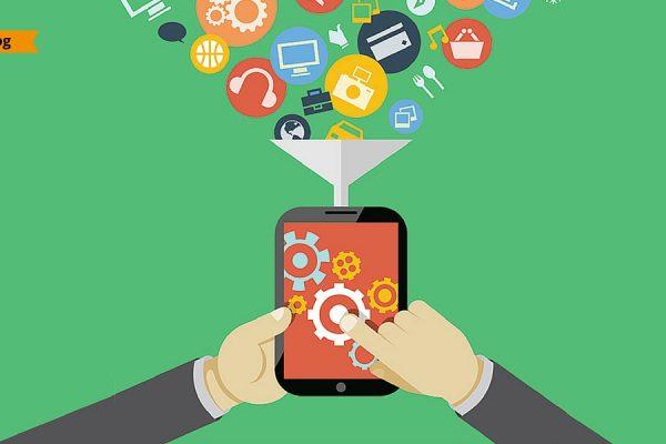 Un tablet che fagocita oggetti connessi al WiFi attraverso un imbuto.