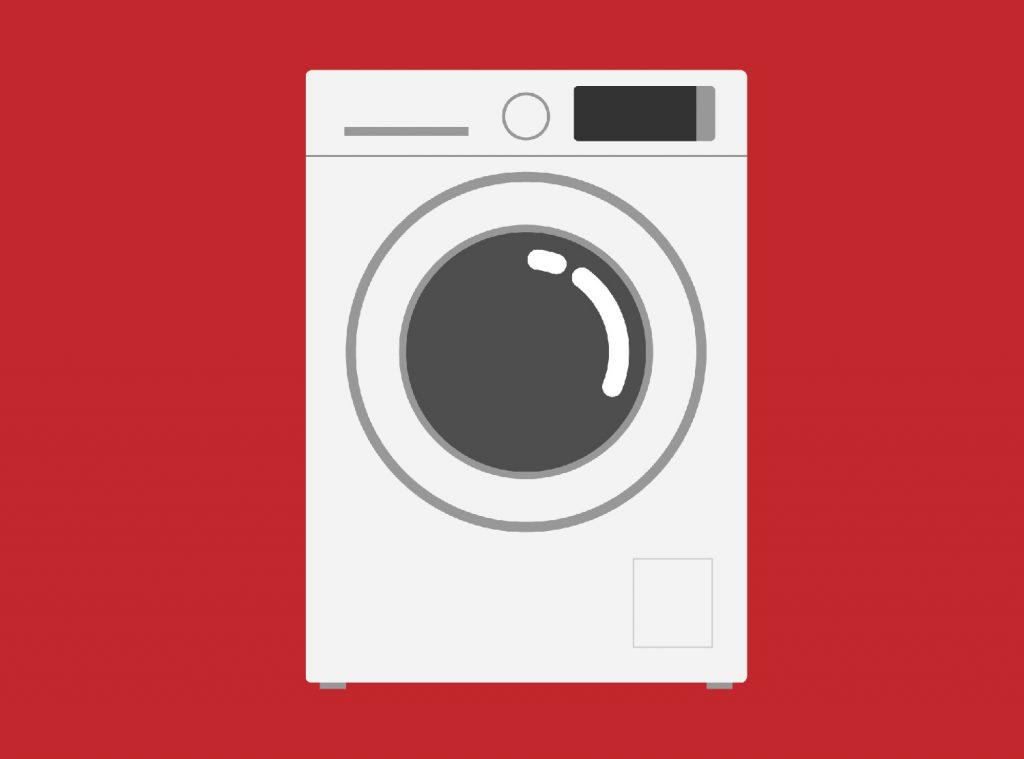 Una lavatrice.
