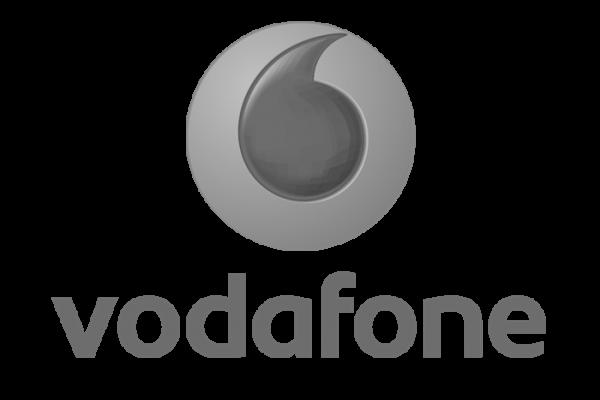 Il logo dell'azienda Vodafone Italia.