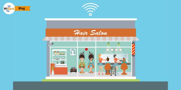Immagine di un salone dotato di hotspot wifi per parrucchieri.