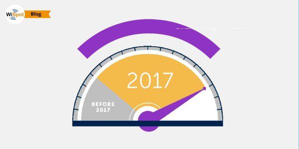 Un indicatore a lancetta con segnato il numero 2017 sovrastato dal simbolo del WiFi.